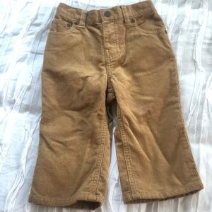 Boys Polo by RL camel colored corduroy pants